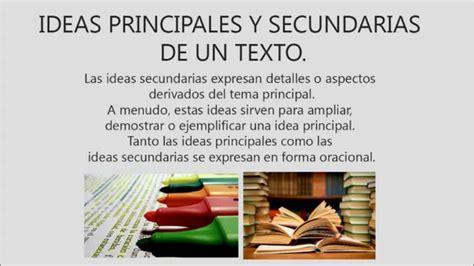 2 textos y estrategias tipos de textos ideas principales y secundarias de un texto universidad yacamb 250 youtube