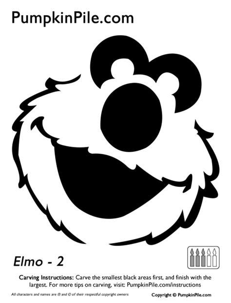 Elmo Pumpkin Template by Easy Elmo Pumpkin Carving Stencil Template Free