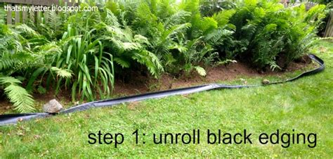 Install Plastic Landscape Edging How To Install Landscape Bed Black Edging Pretty Handy