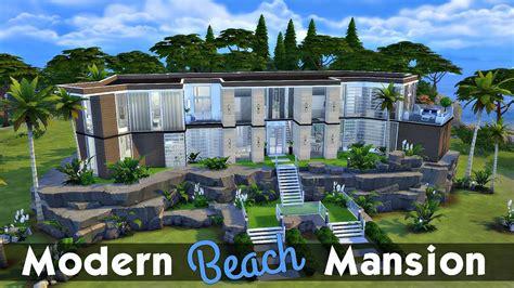 the sims 4 speed build dillan s modern beach home youtube mansion interior design