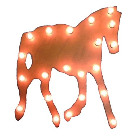Wrought Iron Lights Chandeliers Universal Iron Lighted Horse Sign Mlhorse
