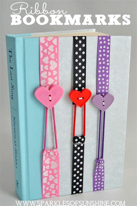 Easy Handmade Bookmarks - 25 best ideas about ribbon bookmarks on easy
