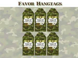 Army Favors by Items Similar To Army Birthday Favor Tags