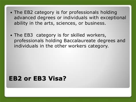 non immigrant visa under section 214 b from h1b to green card process eb2 or eb3 visa
