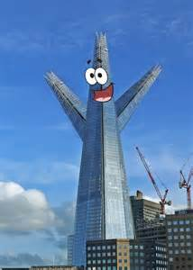 famous builders london s most famous buildings get a spongebob inspired