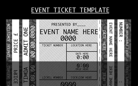 Event Ticket Template By For Certain Cute Stufff Pinterest Ticket Template Ticket Concert Ticket Template Free