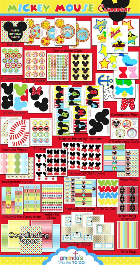 mickey mouse clubhouse printable birthday decorations free mickey mouse birthday printables just b cause