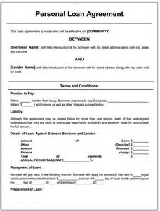 Personal Contract Template by Doc 700906 Sle Loan Agreement Between Two Individuals