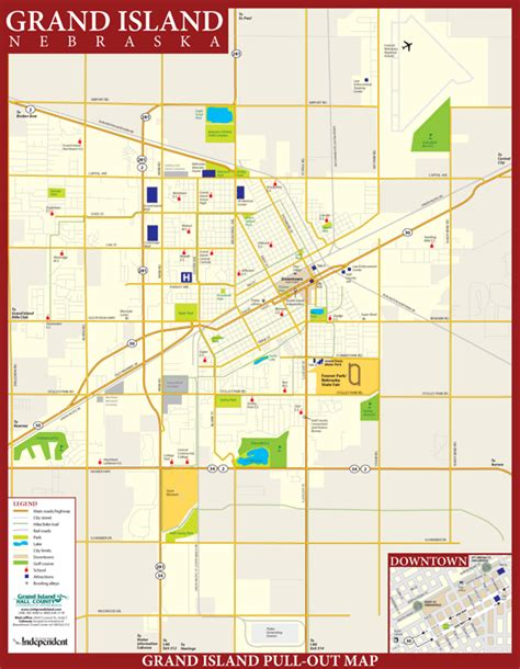grand map images city map grand island