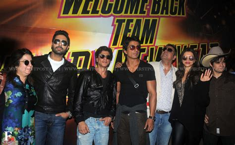 happy new year cast photos cast of happy new year returns after slam tour in us entertainment news firstpost