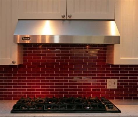 red tile backsplash kitchen pinterest the world s catalog of ideas