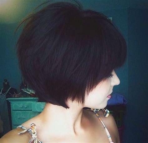 chin length layered angle bob 55 classy short haircuts and hairstyles for thick hair