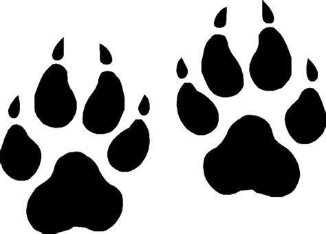 Large Paw Print Clip by Wolf Paw Prints Vinyl Decals Stickers Graphics Ebay