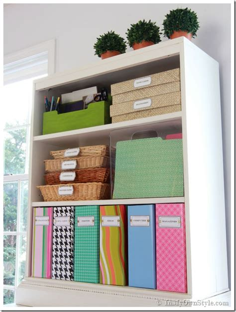 home office organization tips organizing ideas colorful magazine files free labels