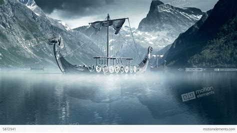 viking longboat wallpaper viking ships on nordic sea epic fullhd visualfx
