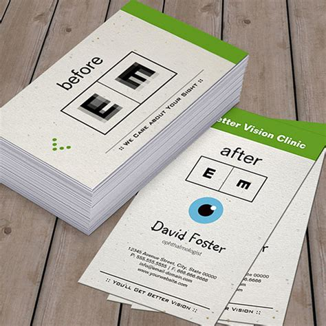 optometry business cards templates free eye doctor ophthalmology ophthalmologist optometry pack of