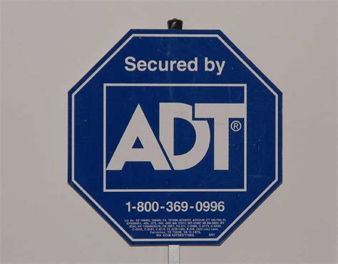 adt home security sign picture image photo