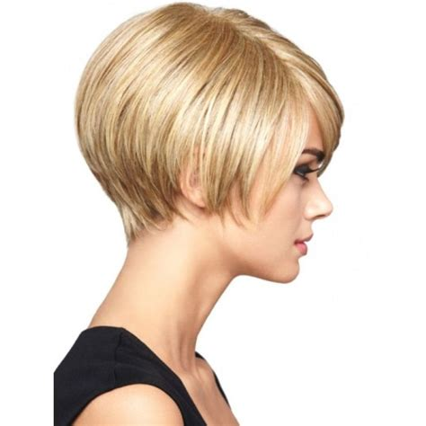 wedge with choppy layers hairstyle back view short wedge haircut classy and trendy women