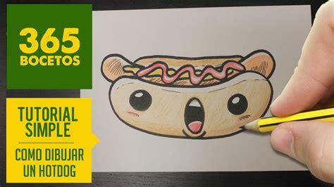 imágenes kawaii fáciles de hacer como dibujar un hot dog kawaii paso a paso dibujos