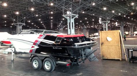 boat show javits center boats begin cruising into javits center ahead of annual