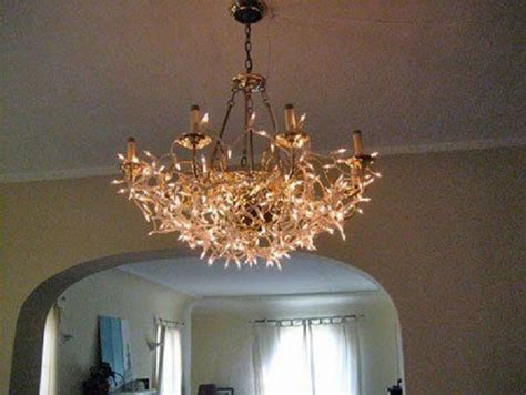 35 Super Cozy Ways To Use String Lights At Home Page 4 Chandelier String Lights