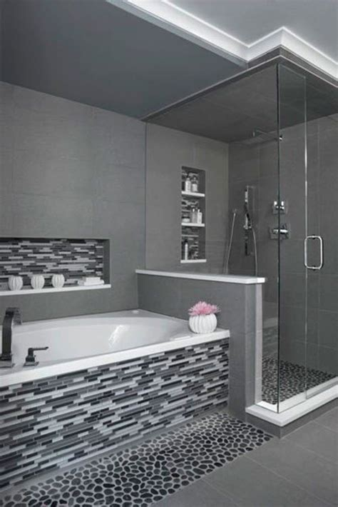 black and white tiled bathroom ideas 29 gray and white bathroom tile ideas and pictures