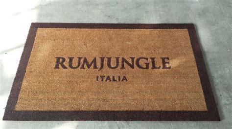 zerbino personalizzato roma zerbino personalizzato in cocco naturale rum jungle a roma