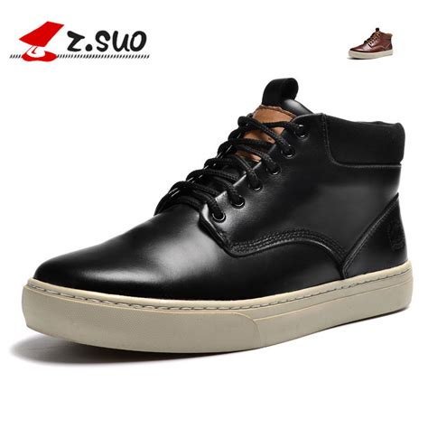 zsuo brand leather boots ankle martins s