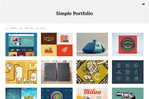 simple portfolio free wp themes wp templates