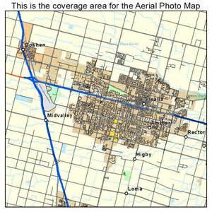 aerial photography map of visalia ca california