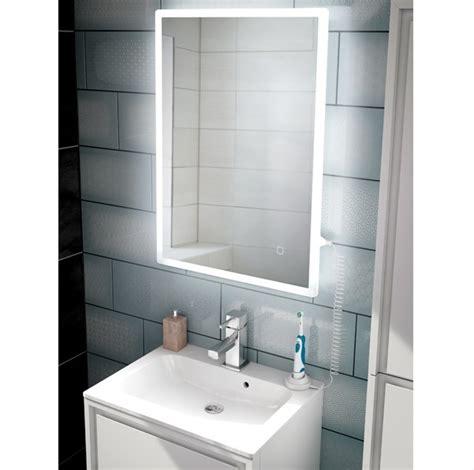hib vega cm bathroom mirror   shaver socket usb led