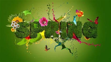 grass typography photoshop tutorial spring floral typography text effects psddude