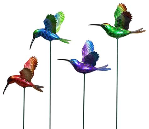 7 in windy wings hummingbird garden stake assortment 1
