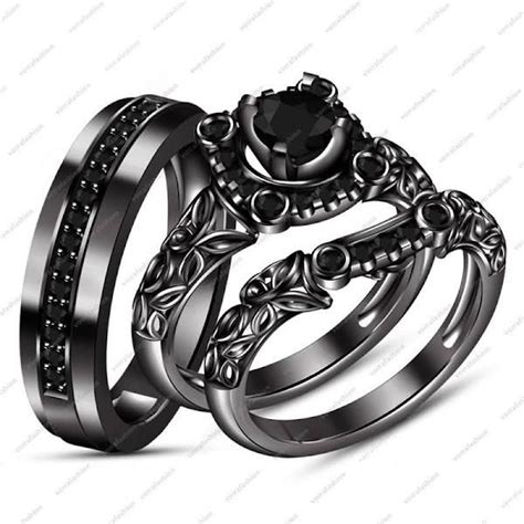 silver black gold wedding rings best 25 black gold wedding rings ideas on