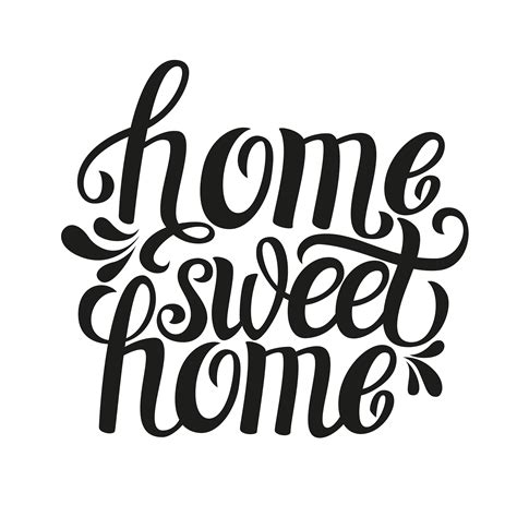 Home Decor Words home sweet home typography custom wallpaper