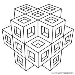 printable geometric coloring pages free coloring pages of 3d for adults