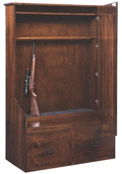 solid wood entryway bench  hidden gun cabinet