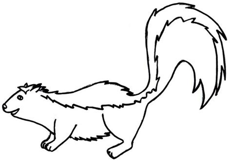 friendly skunk coloring page color luna