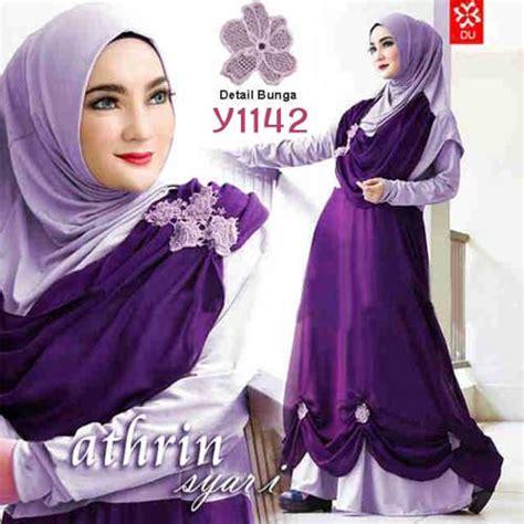 Saqina Gamis Trendy Mg015 Ungu baju muslim trendy athrin syari y1142 model gamis terbaru