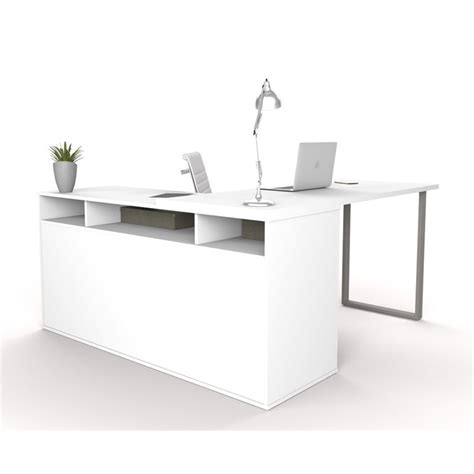 bestar l shaped desk bestar solay l shaped desk in white 29420 17