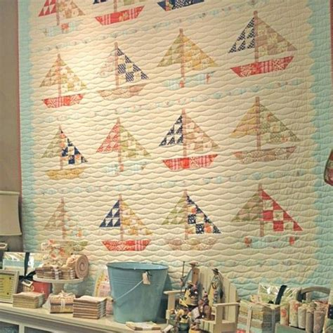 washed out colors washed out colors and sailboats baby quilts