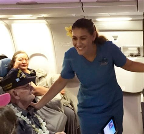 Flight Attendant Hawaii by What This Hawaiian Airlines Flight Attendant Did For A Pearl Harbor Survivor Will Be The Best