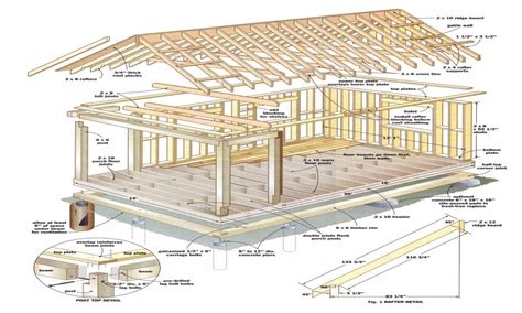 Building Plans For Cabin by 12x16 Cabin With Loft Plans 12 X 16 Cabin Plans Diy Cabin