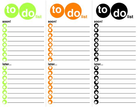 to do list template free to do list