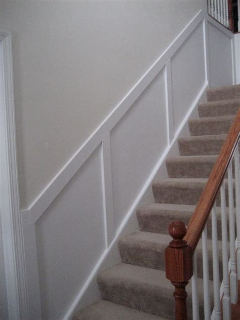 Diy Wainscoting Stairwell diy show home foyers and stairs
