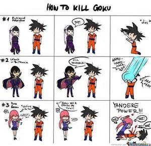 Ways to kill goku by yetitroll meme center