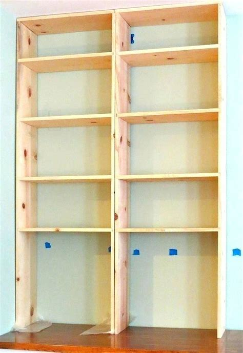 simple built in bookcase bookcase plans bookcase plans building simple built in
