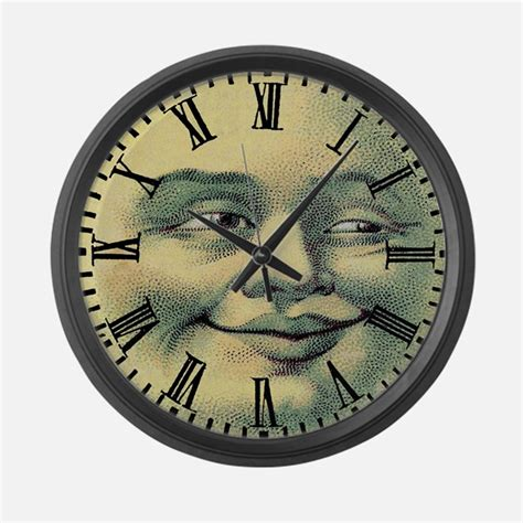 cool blue smiley face wall clock by artplaygifts moon face clocks moon face wall clocks large modern