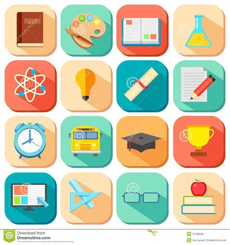 design education icon flat education icon royalty free stock photo image 37780535