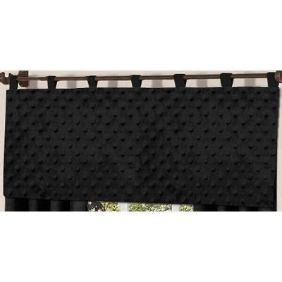 Black Window Valance Jojo Minky Dot Black Window Valance The Frog And The